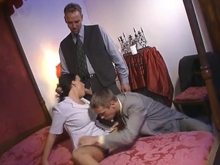 Blowjob Double Penetration  Threesome Vintage