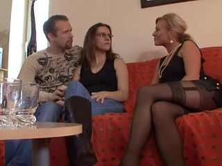 European German  Stockings Threesome