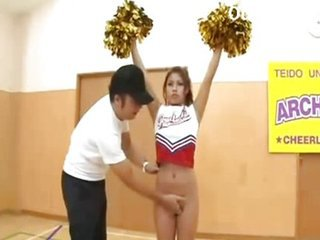 Asiatisk Cheerleader Japansk Tenåring Uniform