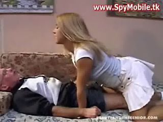 hot Blonde daughter fucked adjacent to ancient man