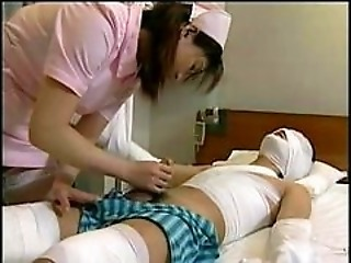 Asian Handjob Japanese Nurse Teen Uniform