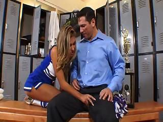 Cheerleader Handjob Teen Uniform
