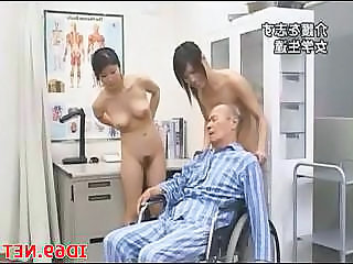 Asian Japanese Old and Young Threesome