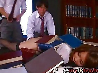 Asian Japanese School Sleeping Teen