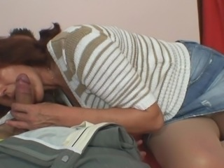 Blowjob Jeans Mature