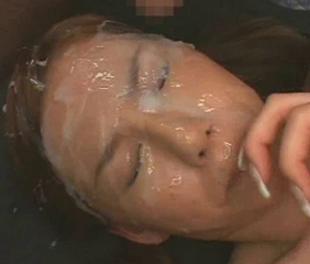 asian girl gets fucked while recieving massive facial