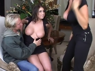Big Tits  Old and Young Teen Threesome