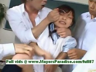 Kaho kasumi hot japanese schoolgirls in the classroom