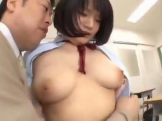 Busty Schoolgirl Getting Her Tits Rubbed Pussy Licked By Her Teacher In The Classroom