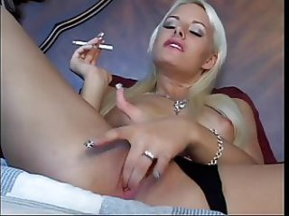 Babe Masturbating Smoking