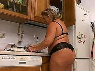 Ass  Kitchen Lingerie Mature Wife