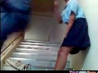 Asian Student Doggystyle Quickie