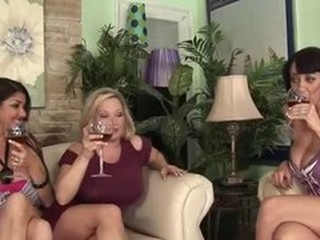 Nadia, Rachel & Alia - Busty Club Foursome