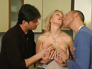 Italian Mature Clarissa Threesome