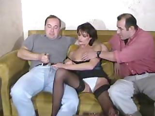 hot inexperienced mature triple