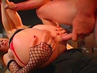 Babe fucked in all holes