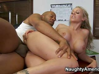 Big Black Cock Explore Busty Blonde Slut