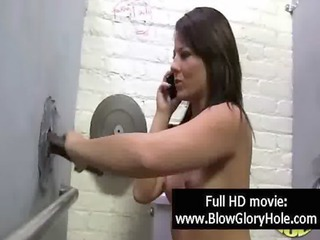Gloryhole Handjob Interracial