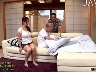 Asian Daddy Daughter Family Japanese  Old and Young