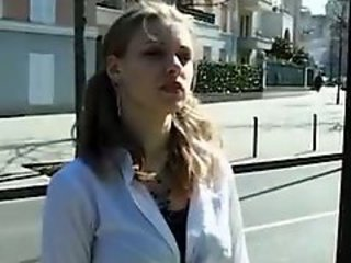 European French Outdoor Pigtail Public Teen