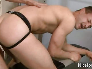 Two Hot Jocks Fucking And Sucking In Gym
