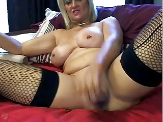 Big Tits Masturbating  Piercing Stockings