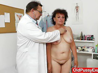 Fuck hole examination plus a basty grandmother tubes