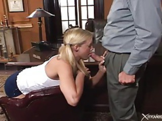 Principal pushes his cock into that wet pussy tubes