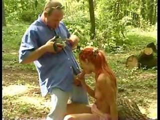 Blowjob Outdoor Redhead Teen
