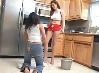 Lesbian Mistress and latina maid
