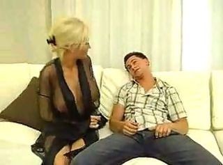 Blonde MILF Has Sex With Young Boy