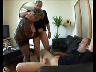 Chubby European French Handjob Mature Threesome