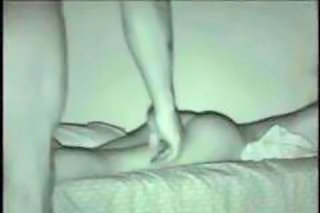 Amateur couple fucking in night vision.