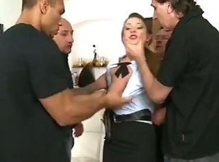 Gangbang Office Teen