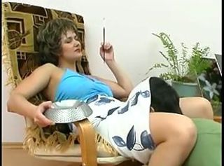 Mature Russian Smoking