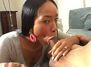 Skinny amateur black girl rammed on couch