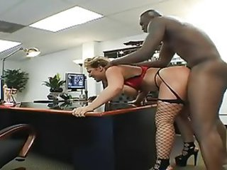 Doggystyle Fishnet Hardcore Interracial  Office