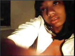 young black teen on webcam