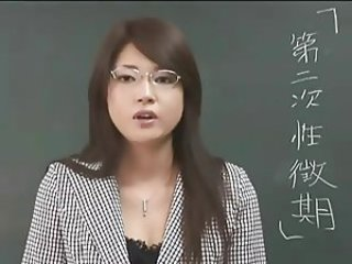 Asian Cute Glasses Japanese  School Teacher