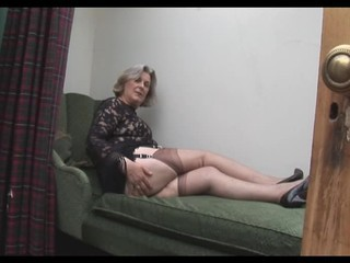Busty Granny In Stockings Shows...