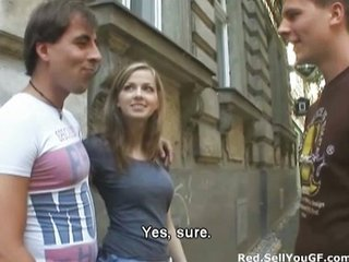 Amateur Cash Outdoor Public Teen