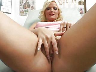 Babe Blonde  Doctor Masturbating