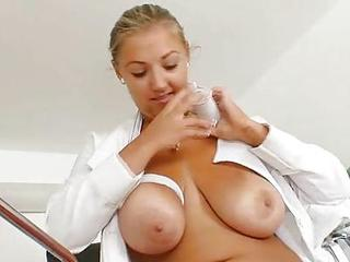 Babe Big Tits Natural Nurse