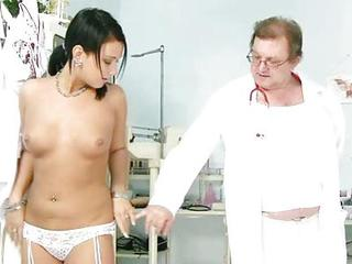 Carmen Fur Pie Speculum Detailed Gyno Exam By Kinky Old Doctor