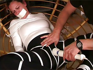 Bound orgasm in Spandex