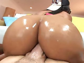 Ebony Wet Fat Ass Ready For Hardcore Anal