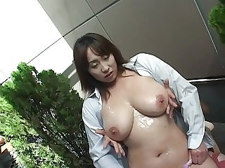 Asian Big Tits Massage  Natural Oiled