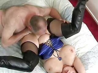 Big Tits Licking  Natural Older Stockings