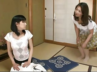 Asian Daughter Japanese Lesbian  Mom Old and Young Teen