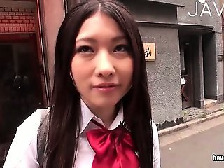 Asian Cute Japanese Outdoor Public Student Teen Uniform